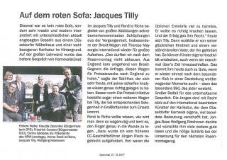 Auf dem roten Sofa: Jacques Tilly
